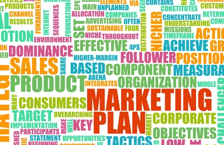 marketing plan: Marketing Plan as a Concept in Business Stock Photo
