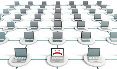 System Virus on a PC Computer Network Stock Photo - 8845546