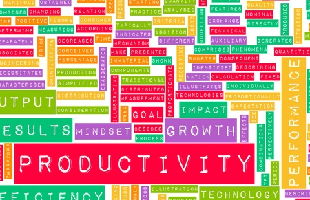 productivity: Aumentando la produttivit? in Office Business Art Archivio Fotografico
