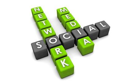 web marketing: Social Media Network on the Internet in 3d