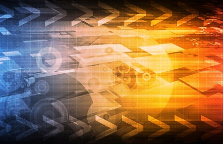 Business Technologies as a Conceptual Tech Art Stock Photo - 8845574
