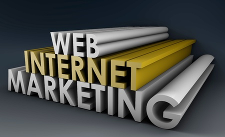 Internet Marketing on the Web in 3D Form photo