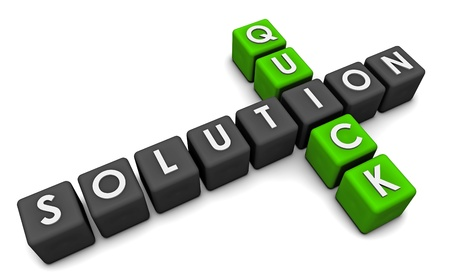 Quick Solution or Fix in Solving a Problem Stock Photo - 8898730