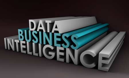 Business Intelligence from Data Analysis in 3d Stock Photo - 8898733