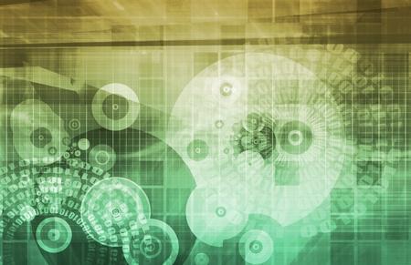 mass media: Business Technologies as a Conceptual Tech Art Stock Photo