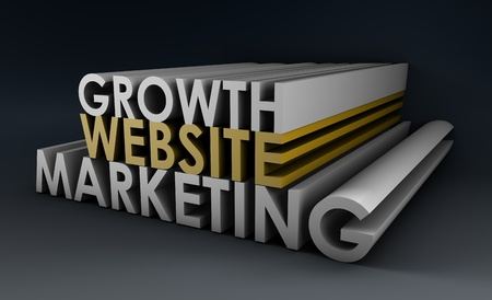 Website Marketing Leading to Growth in 3d photo