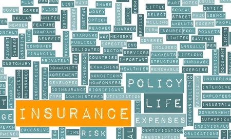 Life Insurance Policy and Choose or Buy One Foto de archivo