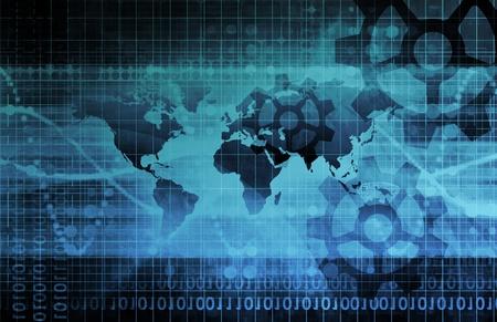 industriale: Background industriale su scala globale di mappa