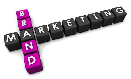 reconocimiento: Concepto de Marketing de marca en el arte de bloques 3d