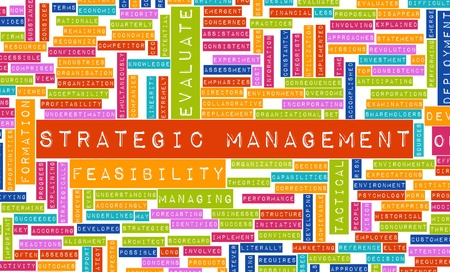 Strategic Management and Important Steps as Art Imagens