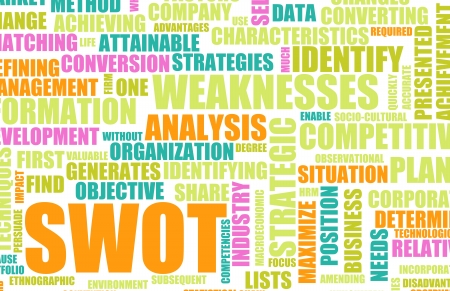 SWOT Analysis to Identify an Individual Concept Stock Photo - 8970903