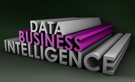 intelligenz: Business Intelligence von Datenanalyse in 3d