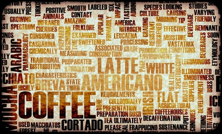 Coffee Varieties and Other Beverages Types Art photo