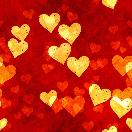 Seamless Hearts Background in Grunge Love Texture photo