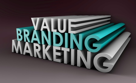Branding and Marketing of a Product in 3D Format Stock Photo - 8970930