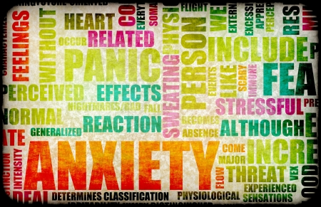 panic attack: Anxiety and Stress and its Destructive Qualities Stock Photo