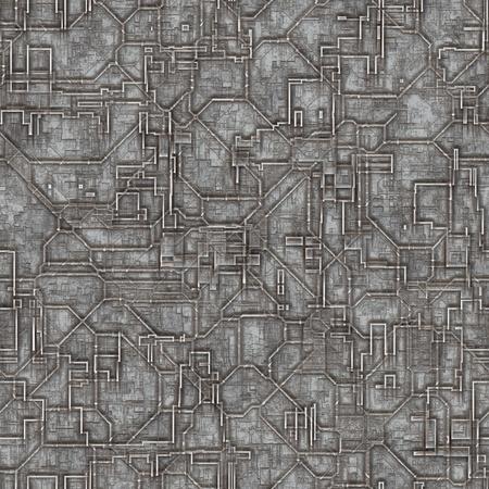 Naadloze ruimte romp schip patroon als achtergrond