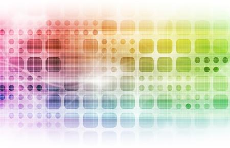회사: 데이터 그리드 시스템과 기술 네트워크 스톡 사진