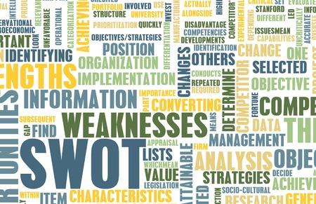 SWOT-Analyse, ein individuelles Konzept zu identifizieren Standard-Bild - 8970935