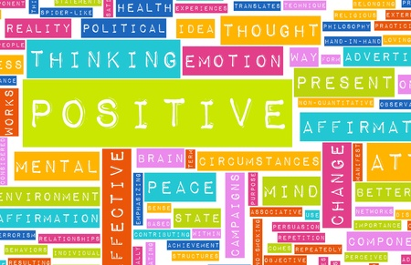 affirmations: Thinking Positive as an Attitude Abstract Concept Stock Photo