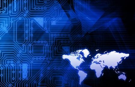 teleconference: Business Technologies as a Conceptual Tech Art Stock Photo