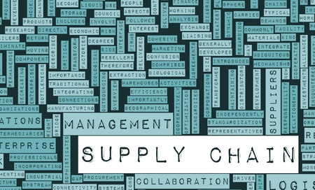 scm: Supply Chain Management Processes As a Concept Stock Photo