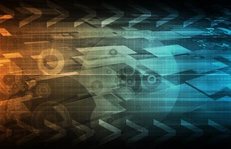 Business Technologies as a Conceptual Tech Art Stock Photo - 8983250