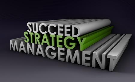 Stratégie de gestion des succès comme un 3d Art Banque d'images - 9022206