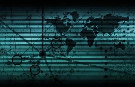 Blue Internet Web technologies comme les Services de données   Banque d'images - 9022222