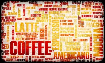 創造的な概念の背景としてコーヒーの選択