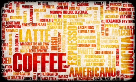 Coffee Selection as a Creative Concept Background
