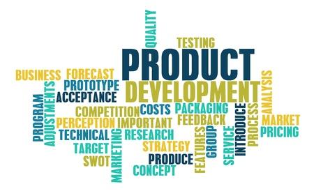 Produkt Entwicklungsschritt und Phase als Konzept Standard-Bild - 9022595