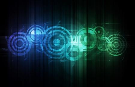 interlinked: Tecnolog�a abstracta con datos interrelacionados como arte Foto de archivo