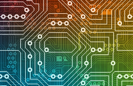 electronic board: Electronics Industry and Other Business Terms Art Stock Photo
