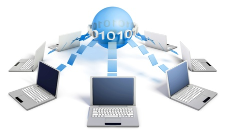 Internet Concept of a Global System and Business Stock Photo - 9105395