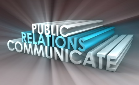 Public Relations Concept in the PR Industry photo