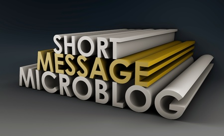 Microblog Website for Short Message Updates in 3D