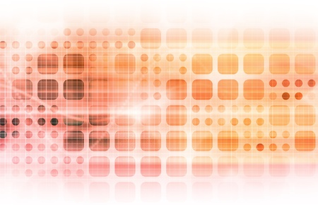 Technology Network with a Data Grid System Stock Photo - 9105432