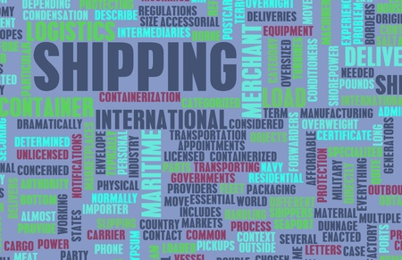 Shipping Industry as a Maritime Business Concept Stock Photo - 9105401