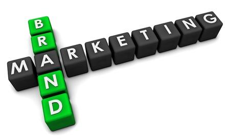 Brand Marketing Concept in 3d Blocks Art Stock Photo - 9147995