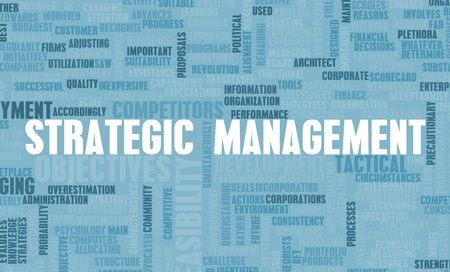 feasible: Strategic Management and Important Steps as Art Stock Photo