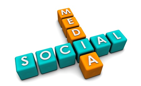 Social Media Interaction Technology on the Web  Stock Photo - 9147997