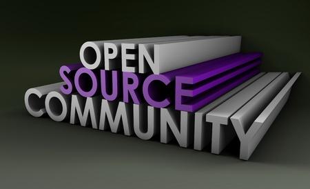 3 D アートのオープン ソース コミュニティの概念