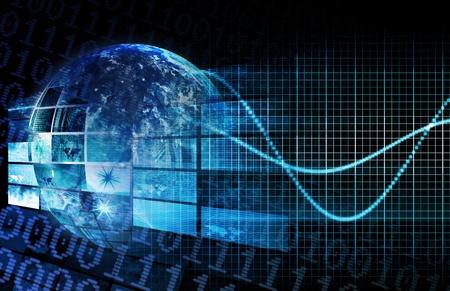 Wereldwijd netwerk van het bedrijfstechnologie als een Concept