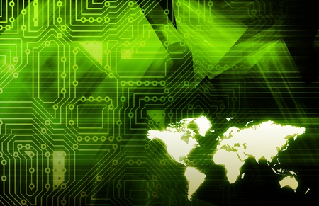 Internet World Wide Web Abstract Tech Background photo