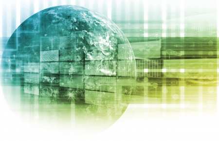 Informationsnetz Technologie Daten als System Standard-Bild - 9148053