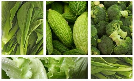 健康的な食事のライフ スタイルのための緑の野菜