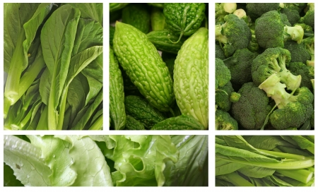 Grünes Gemüse gesund essen Lebensstils Standard-Bild