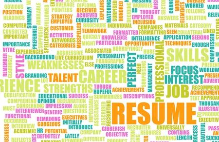 resume: Job Resume of a Well Written CV Concept