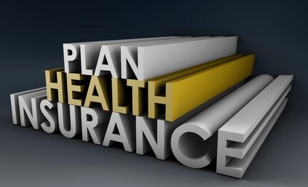 Krankenversicherung Plan Politik in 3D Kunst Standard-Bild - 9249736